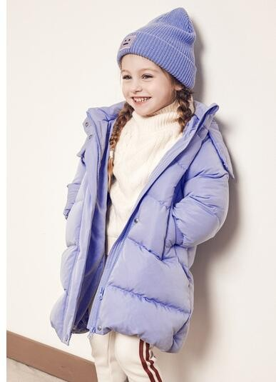 Mini Balabala 迷你巴拉巴拉 女童中长款羽绒服  M1074190202 紫罗兰色 90cm