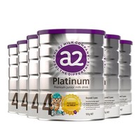 a2 艾尔 白金系列 婴幼儿奶粉 4段 900g 6罐装