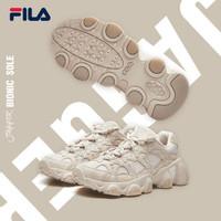 FILA 斐乐  JAGGER F12M931104F 爪爪鞋老爹鞋2019年新款复古跑鞋休闲鞋男鞋跑步鞋 男-米色-AG(鞋型宽松,瘦脚建议拍小半码) 41