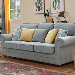 历史低价: QuanU 全友 102257 小户型布艺可拆洗沙发 三人位 2149元包邮(双重优惠)_苏宁易购优惠_优惠购