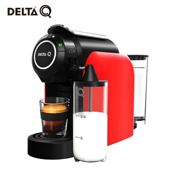 DELTA Q 岱塔  MILKQOOL 胶囊咖啡机家用全自动奶泡一体意式浓缩办公室胶囊机 红色