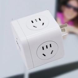 ROTOR 劳特 魔方插座 一转三 不带USB