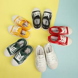 儿童帆布鞋 女童白鞋