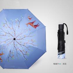 susino 梅花伞 黑胶遮阳伞 三折款