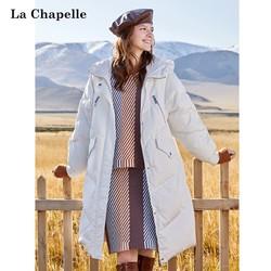 La Chapelle 拉夏贝尔 女士80%白鸭绒长款羽绒服 4色
