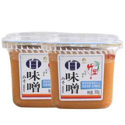 欣和 竹笙 白味噌 咸味噌 火锅调料 500g*2盒 日式酱汤 *3件
