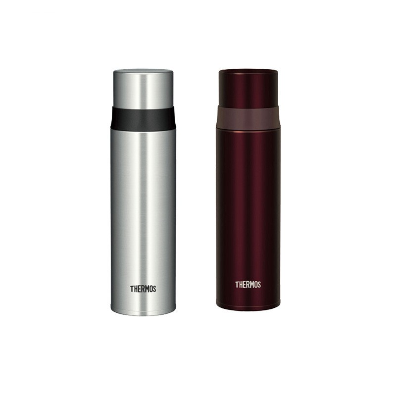 THERMOS 膳魔师  FFM-500 不锈钢真空保温杯 银色+酒红色 500ml