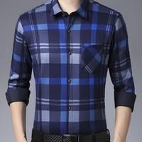 赛舨 SsaiBban 男士加绒衬衫 L-4XL码可选