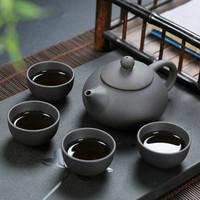 淘奔瓷   功夫茶具  一壶四杯共5件套