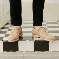 J.ZAO 京东京造 男士翻绒系带沙漠鞋