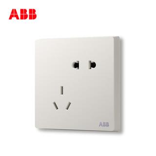 ABB 轩致雅典白墙壁 86型插座套餐 14只装