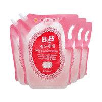 61预售、88VIP:B&B 保宁 婴儿天然抗菌洗衣液补充装 2100ml*4袋 *2件