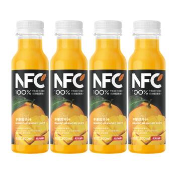 NONGFU SPRING 农夫山泉 NFC果汁 芒果混合汁 300ml*4瓶 *8件