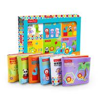 费雪布书手掌书 儿童玩具宝宝婴幼儿早教 启蒙与认知礼盒装F0811/F0812 6件套F0812