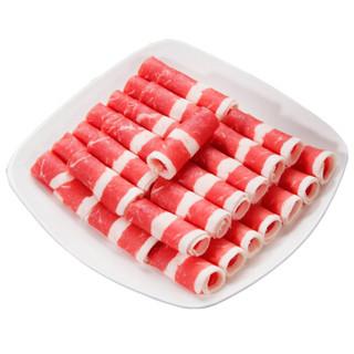 大庄园 满宴肥牛肉片 500g/袋 原切谷饲牛肉  火锅食材
