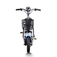 雅迪(yadea)新国标新款电动自行车48V成人男女自行车助力脚踏小型代步电动车(电池可取) 蓝色
