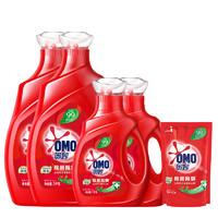 奥妙(OMO) 除菌除螨洗衣液 3kg*2+1kg*2+400g+衣物洗护赠品礼包