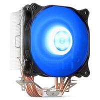 SAMA 先马  冰雪 120 CPU散热器 4热管直触单片穿Fin工艺4pin PWM智能风扇支持双平台 冰雪120