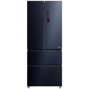 美的(Midea)426升 多门四门对开冰箱19分钟急速净味除菌风冷无霜 一级双变频智能家电冰箱BCD-426WTPZM(E)