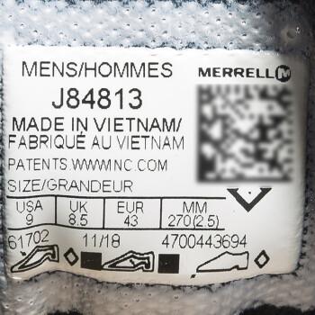 MERRELL 迈乐 J48611 男士溯溪鞋 深灰色/银灰色 41