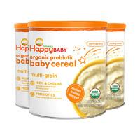 25日0点 : HappyBaby 禧贝 婴幼儿有机混合谷物米粉 198g*3罐 *2件