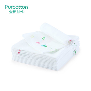 PurCotton 全棉时代 纱布口水巾 3条/袋*4袋