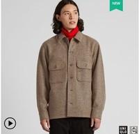 UNIQLO 优衣库 419542 U系列 男士摇粒绒衬衫式夹克