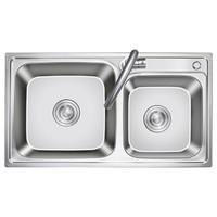 KEGOO 科固 K10035 304不锈钢拉伸槽洗菜盆洗碗池 76*41cm
