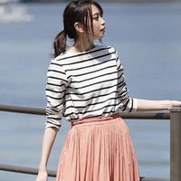 UNIQLO 优衣库 418230  女士条纹船领T恤
