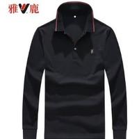 雅鹿  Y7341910059-1 男士长袖POLO衫