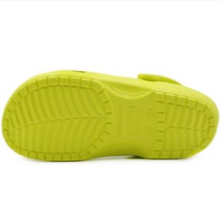 crocs 卡骆驰 男士经典及踝橡胶凉鞋 黄色