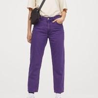 H&M DIVIDED 0664871 女士高腰牛仔裤
