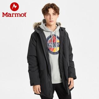 marmot 土拨鼠  男子700蓬羽绒服长款 V73980 曜石黑 S