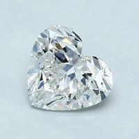 Blue Nile 1.01克拉 心形钻石(切工VG,成色F,净度VVS2)