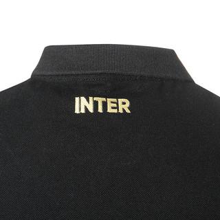 inter 国际米兰 男士刺绣运动POLO衫 黑色 S