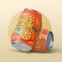 汉斯旗舰店橙蜜310ml*12罐网红汽水真橙真蜂蜜低糖老经典果汁整箱