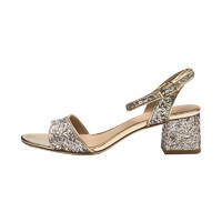 ASH 女士Iris系列亮片装饰粗跟凉鞋 *2件