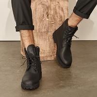网易严选 男士粒面牛皮防水工装靴