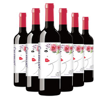 智利进口红酒 智象爱莎干红葡萄酒750ml*6整箱装 *2件