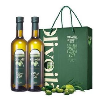 欧丽薇兰 橄榄油 简装礼盒 750ml*2  炒菜食用油橄榄油  中式烹饪 橄榄油