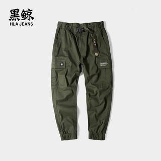 HLA JEANS 黑鲸 CKCAJ19035A 迷彩休闲工装裤