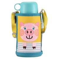TIGER 虎牌 兒童保溫杯保冷吸管杯 600ML 小豬