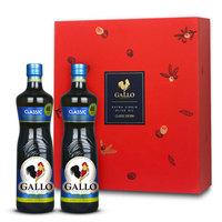 橄露 GALLO 葡萄牙原装进口公鸡橄榄油750ml*2经典特级初榨橄榄油礼盒装过节送礼