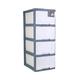 京东PLUS会员:TENMA 天马 移动式抽屉柜 4层 *3件 220.96元包邮(合73.65元/件)
