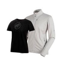 MAMMUT 猛犸象 男士软壳衣+T恤礼盒1014-00540-1017-07292 (岩石灰-黑色、S)
