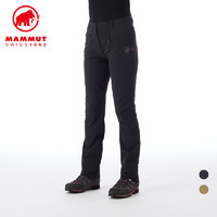 MAMMUT/猛犸象 女士秋冬新品防泼水弹力舒适经典时尚软壳长裤
