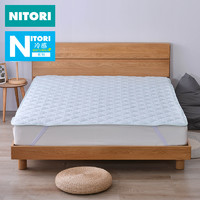 日本NITORI尼达利 棉冷感床垫 保护垫床褥子防滑薄垫被全棉床护垫 1.2m