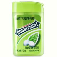DOUBLEMINT 绿箭 无糖薄荷糖清爽薄荷味 20粒 12g