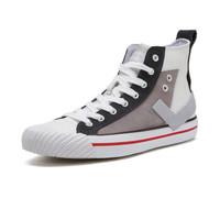 PONY 波尼 91M1SH06 高帮帆布鞋 白色 40