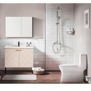 HEGII 恒洁卫浴 HC0165PT+506017N-060+582ED 马桶浴室柜花洒组合套装(不含龙头配件)